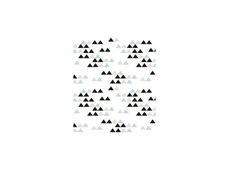 Lilipinso Vliesová tapeta Geometric Sierra černá a tyrkys.