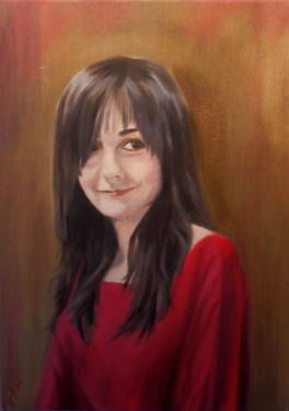 """Saatchi Art Artist ΑγγελικΗ  Aggeliki; Painting, """"Lydia"""" #art Oil on canvas  Size: 60 H x 45 W x 2 cm - NOT AVAILABLE"""