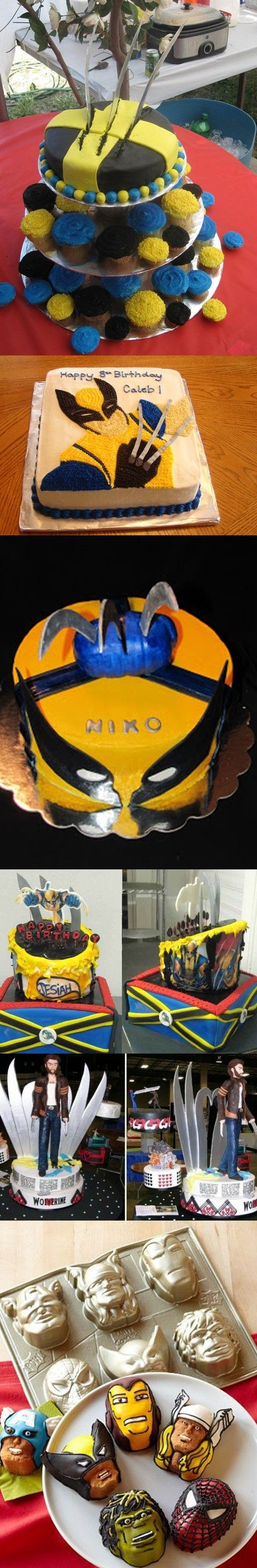 The Wolverine Cake - The Wolverine....I would love this for my four boys