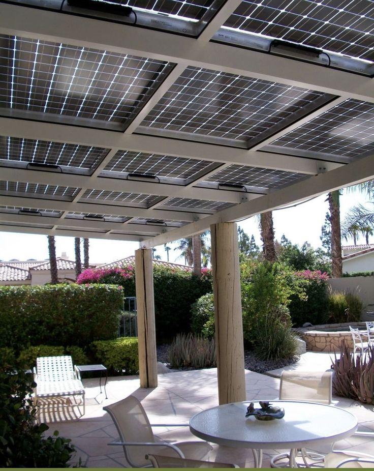 Solar panels on backyard pergola Best solar panels