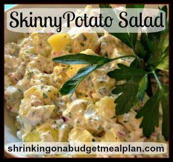 Just in time for Memorial Day. Finally the Perfect Skinny Potato Salad.  This will please even the die-hard Potato Salad lovers in your crowd.  But it is only 2 Weight Watchers Points+!