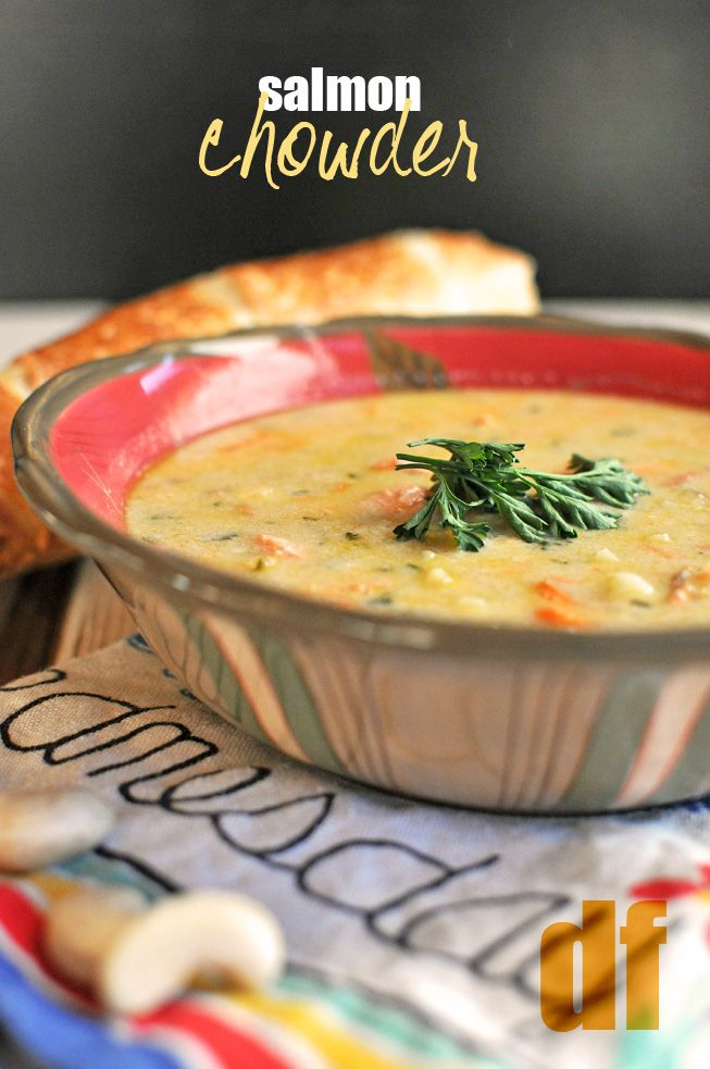 Salmon Chowder -- made with cashew cream. #dairyfree