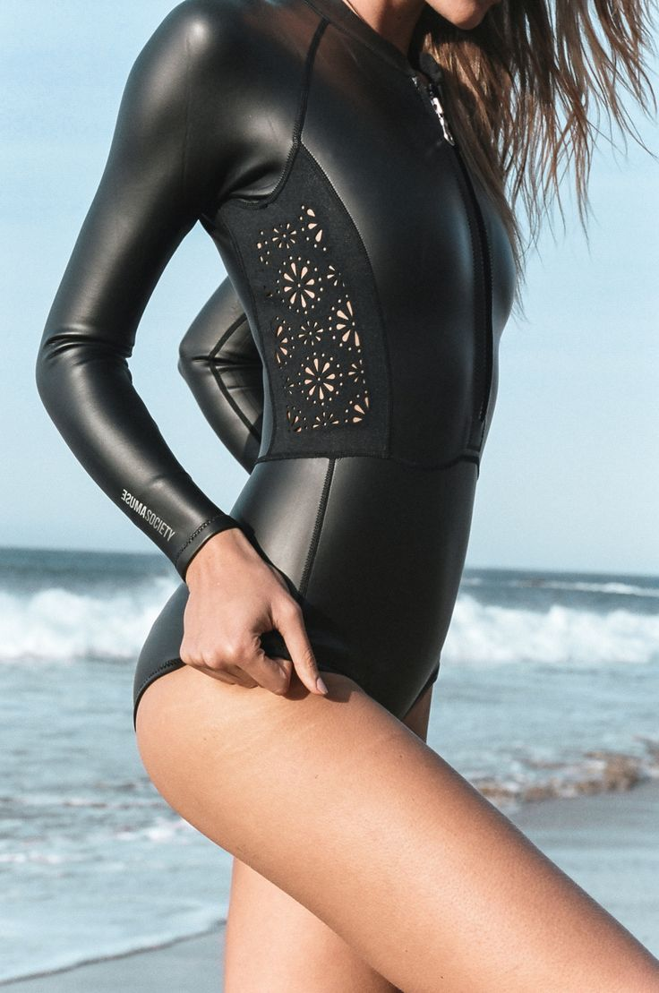 Do you think my surfing will get better if I wear this? #girlzactive #wetsuit #surfgirl