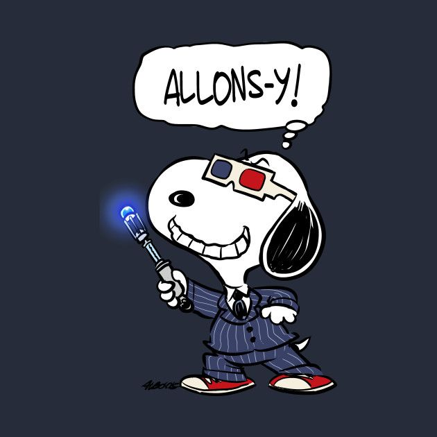 Snoopy cosplaying the Tenth Doctor :D