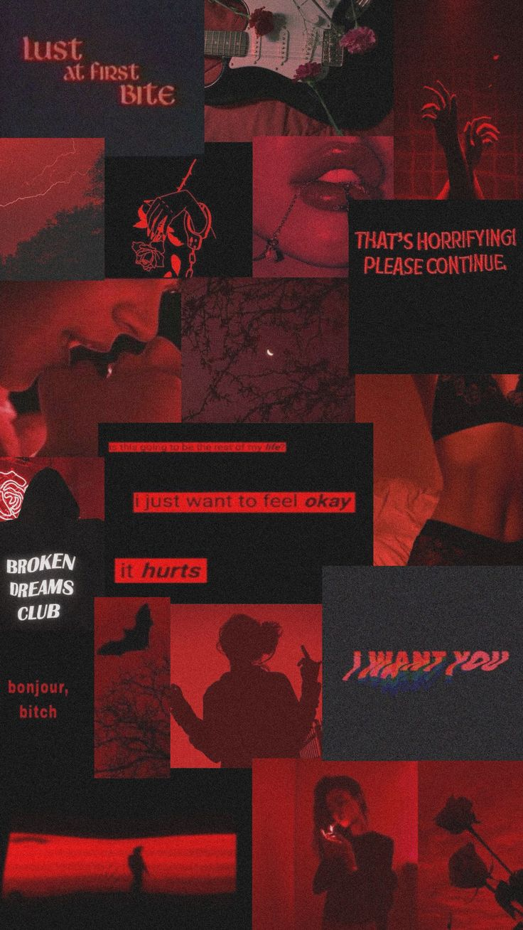 red - grunge - wallpaper - dark - edgy - aesthetic ...