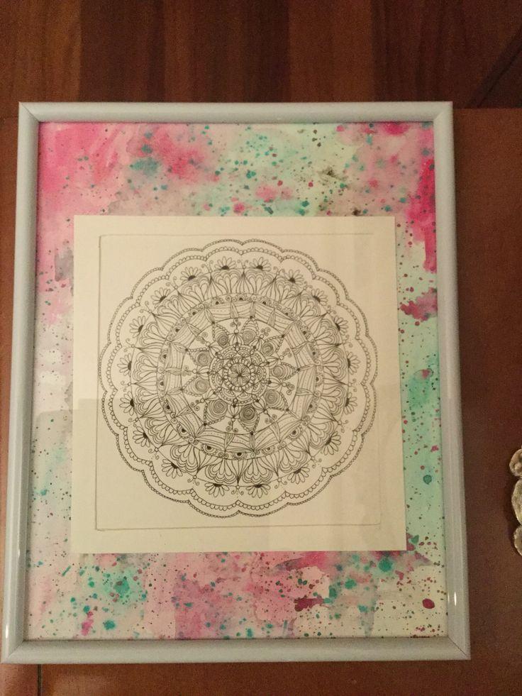 Mandala enmarcado