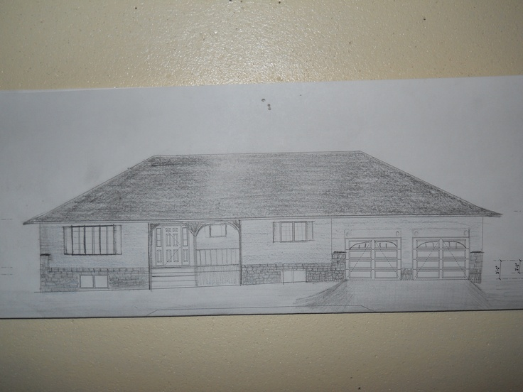 Best Rough Sketch Of Our New House Raised Bungalow Hip Roof 400 x 300