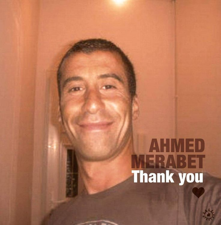 Ahmed MERABET, 42, was a police officer. Member of the ATV police brigade of the 11th arrondissement of Paris, he was patrolling the area when, boulevard Richard Lenoir, he crossed the path of the attackers who were leaving the offices of Charlie Hebdo. First seriously wounded by a shot, the officer collapsed on the sidewalk. Still conscious, he begged one of the attackers who killed at close range without any hésitation. MERCI