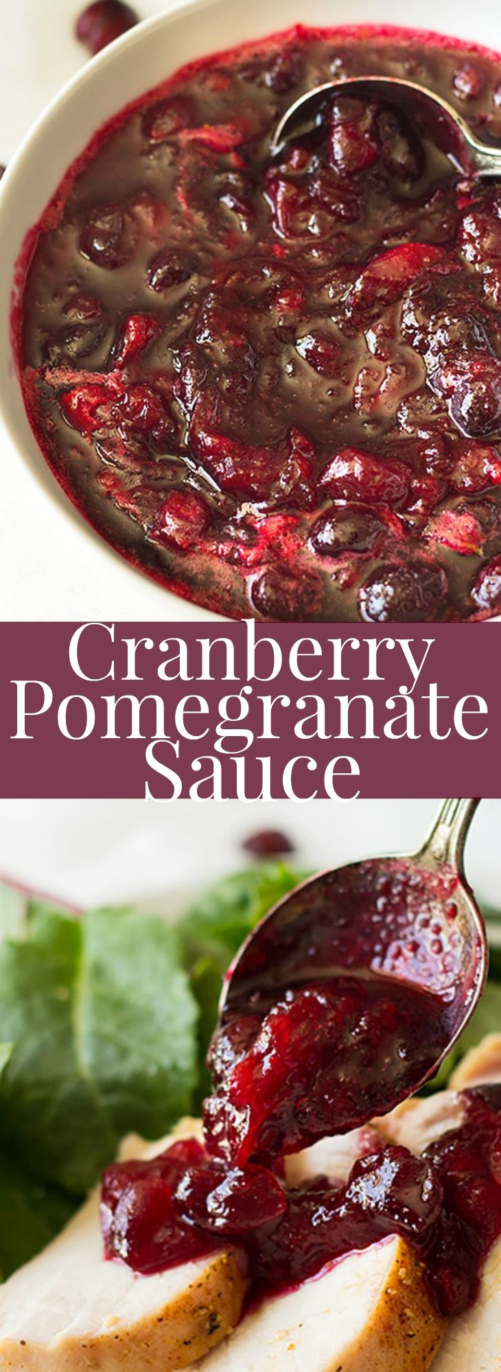 This easy Cranberry Pomegranate Sauce is a simple recipe made in about 15 minutes! | www.countrysidecravings.com