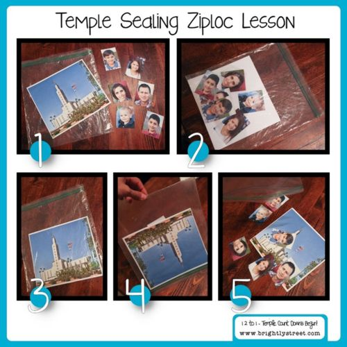 """Here's a fun way to teach what a """"sealing"""" means as you teach your children about how Family Can Be Together Forever. Check out the rest of the Temple lessons in this mini-series."""