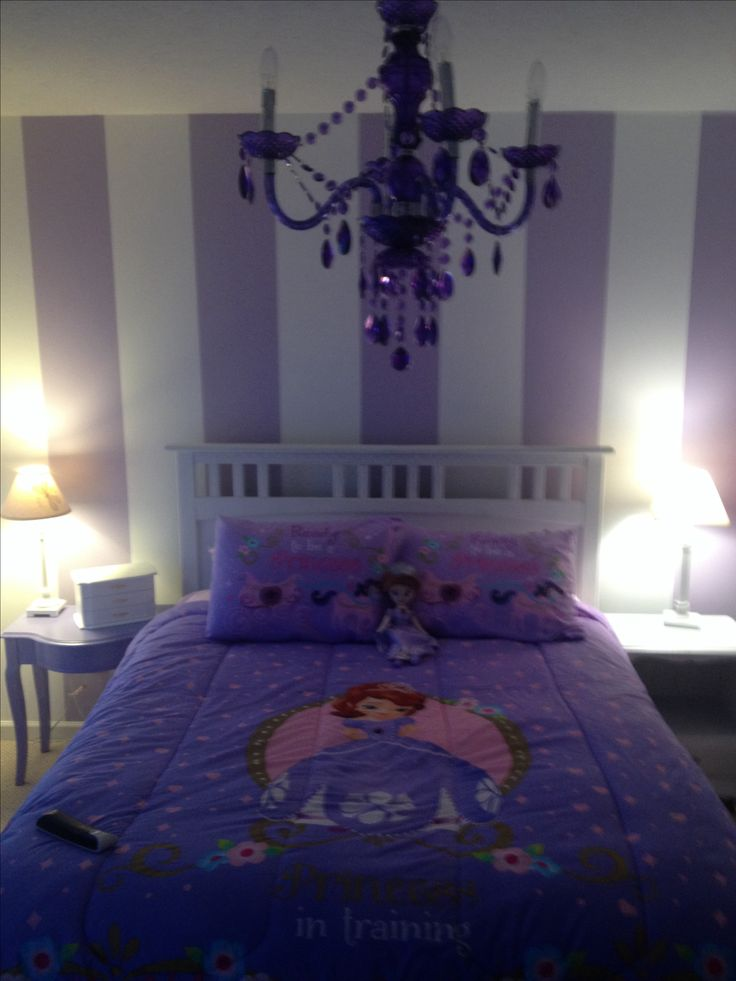 Best 25 purple striped walls ideas on pinterest for Princess bedroom