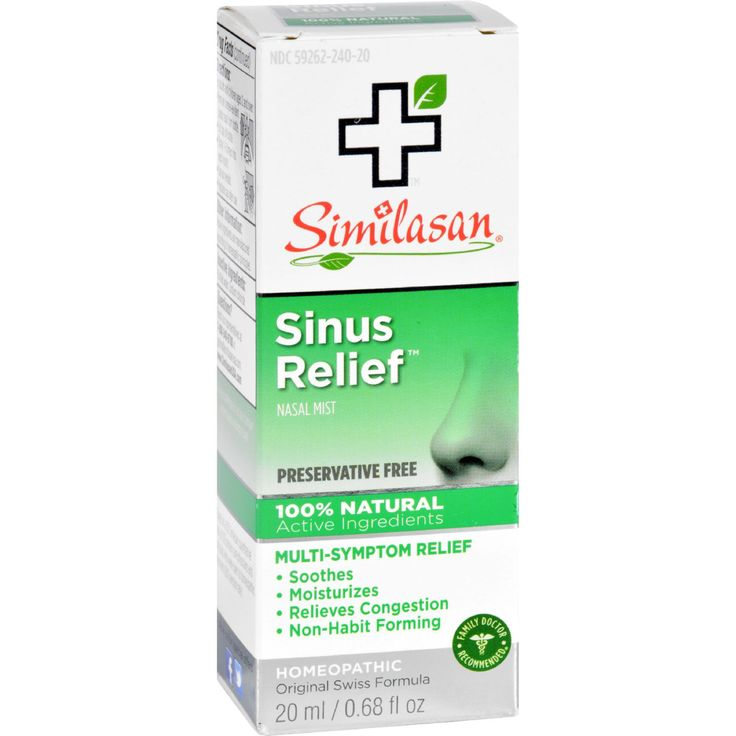 Similasan Sinus Relief - 0.68 fl oz - Similasan Sinus Relief Description: Preservative Free Nasal Mist 100% Natural Active Ingredients Soothes and Moisturizes Relieves Congestion Non-Habit Forming Original Swiss Formula Soothe and moisturize your sinuses and relieve uncomfortable congestion with Similasans preservative free Sinus Relief nasal mist.Similasans preservative free Sinus Relief nasal mist gently stimulates the bodys natural ability to relieve sinus congestion and inflammation of…