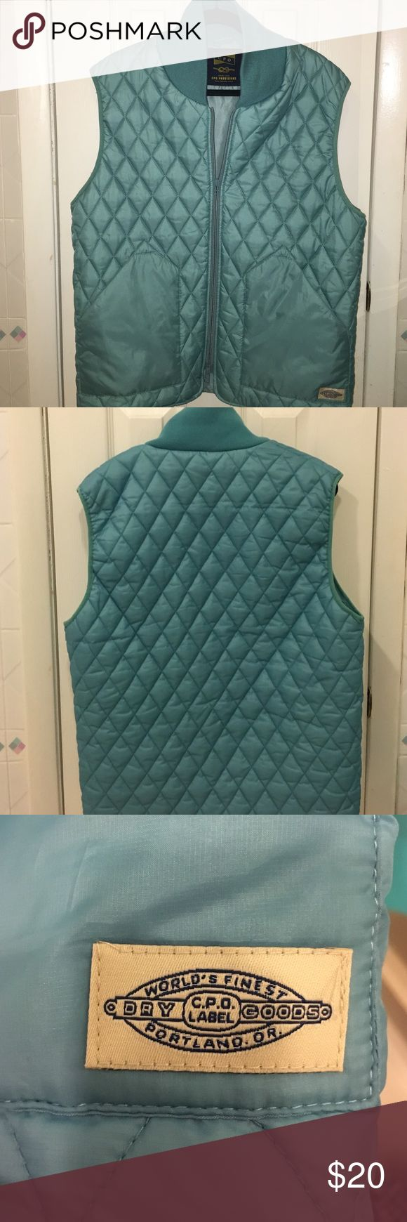 Men's Vest Aqua blue vest CPO provisions from Urban outfitters Urban Outfitters Jackets & Coats Vests