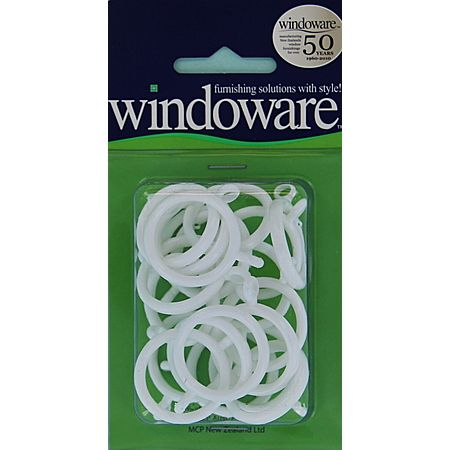 Windoware White Cafe Rings 20 Pack