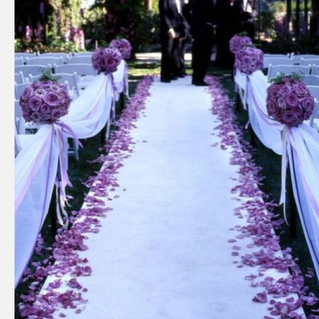 lavender aisle, i would add red roses