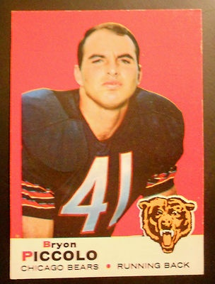 Vintage Football Card 1969 Bryon Brian Piccolo Chicago Bears ROOKIE CARD Topps #26