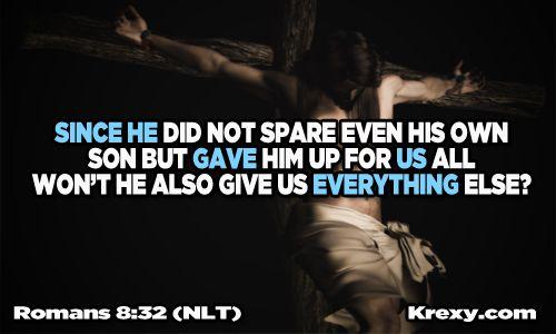 Romans 8:32   Bible Passage Quotes - Romans 8:32 New Living Translation   Krexy ...