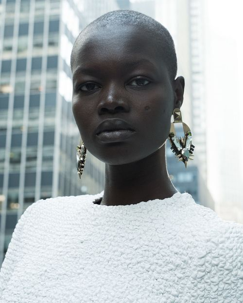 devoutfashion:  Aluad Deng Anei   Photographer: William Manning    Stylist: Von Ford  Assistant: Nadjah Nicole