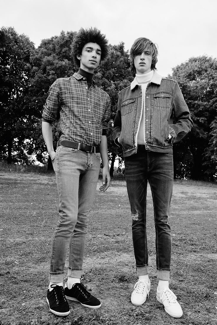Borg lined denim jacket and slim jeans - Topman This is Denim campaign AW15