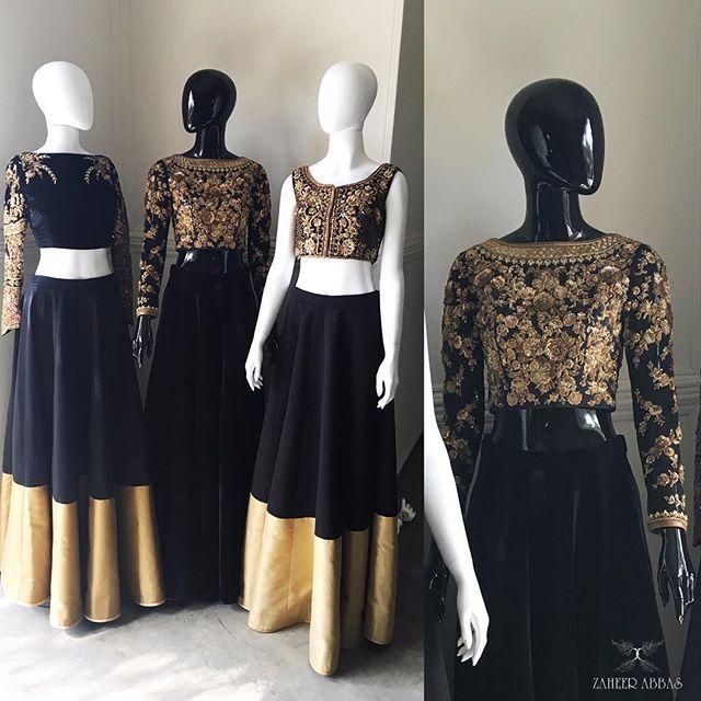 Black & gold !!! #zaatelier #details #craftmanship #blackngold #zaheerabbas