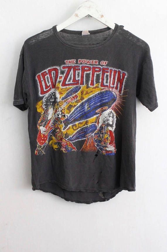 Led Zeppelin Shirt 1970s Vintage T Shirt Rare Band T