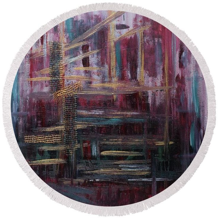 There's New York Round Beach Towel for Sale by Debi Lewis