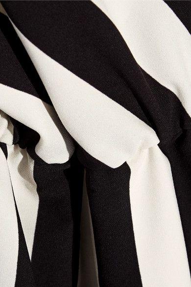 Marc Jacobs - Wrap-effect Striped Crepe Dress - Black - US