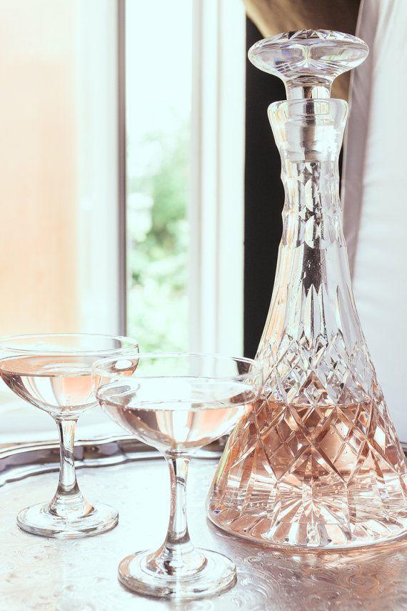 Lead Cut Crystal Decanter  Glass Decanter  by WeddingBoxWhatNots