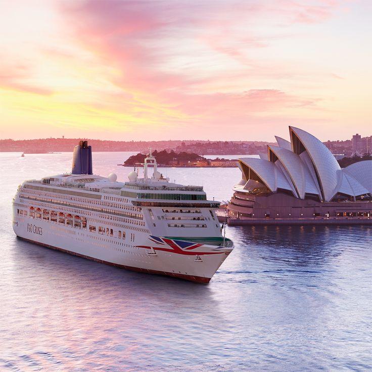Super picture of the P&O Aurora in Sydney. Image thanks @pandocruises   #ThisistheLife #Sydney #Australia