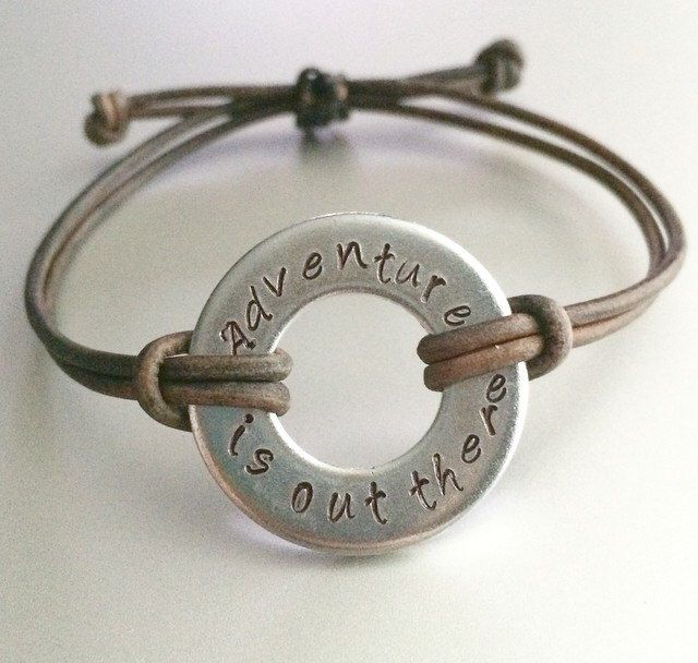 Disney Up inspired quote bracelet - Adventure is out there by ToInfinityOhio on Etsy https://www.etsy.com/listing/213712043/disney-up-inspired-quote-bracelet