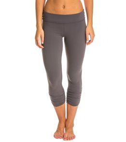 Beyond Yoga Essential Gathered Yoga Capris - Steel - XL