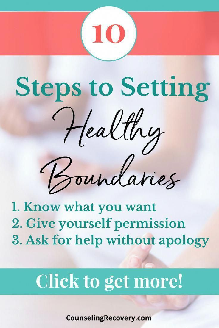 Learn 10 steps to setting healthy boundaries | relationship advice |  codependency recovery | boundaries in relationships | 12 step recovery  worksheets ...