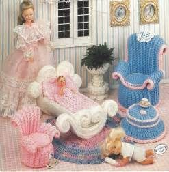 Details about Crochet Wicker Wonderland crochet doll furniture pattern ...
