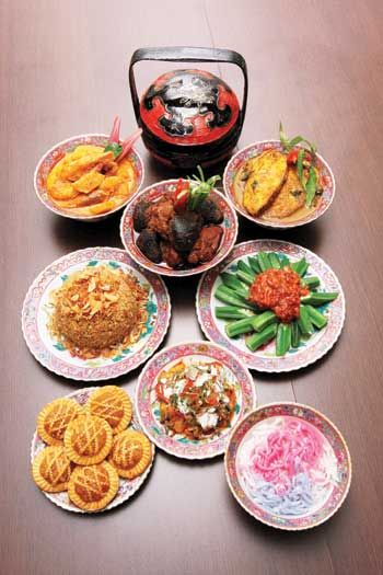 Nyonya, mixing of Chinese ingredients with Malay spices. The food is ...