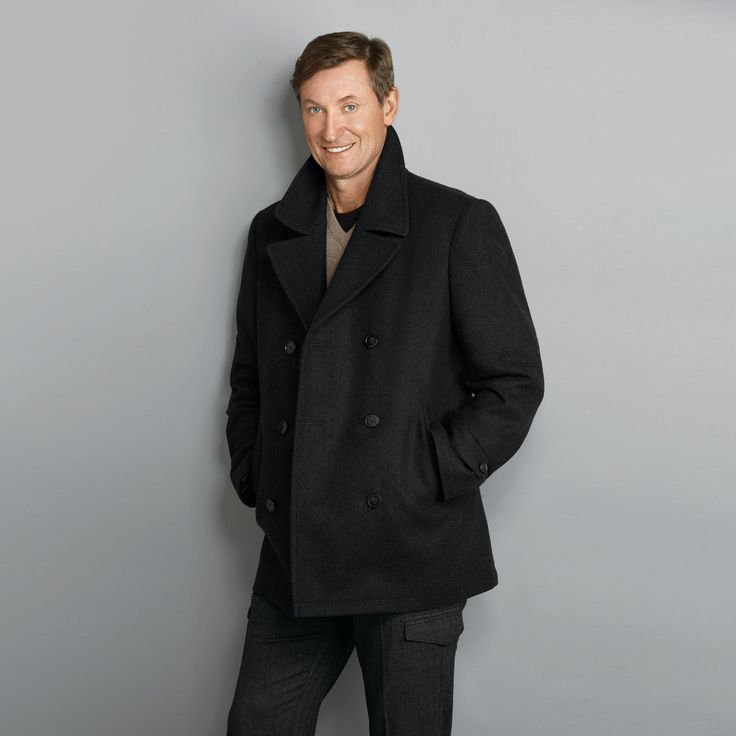No.99 Wayne Gretzky Men's Wool-Blend Peacoat