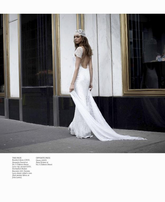 Enchanted Atelier for Maison Sophie Hallette {Marielle} beaded lace cap featured in You & Your Wedding UK: Long Dresses, Garrett Snowflakes, Bridal Fashion, Wedding Magazines, Snowflakes Gowns, Magazines Uk