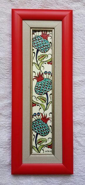 Çini Pano ÇİNİ AYNA #çini, #çiniayna #tiles #turkey #handmade #çinipano #dikili #elyapımı #tasarım #çinidükkanı