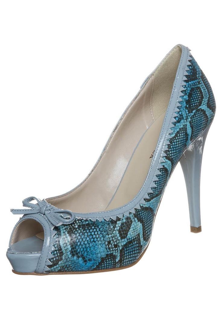 blue satin shoes | Heels, Peep toe heels, Blue satin shoes