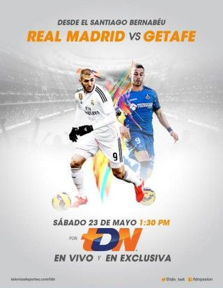 Real Madrid vs Getafe en Vivo – Liga BBVA 2015