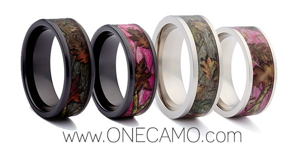 Make your outdoor Camo Wedding complete with a Camo Ring from www.1CAMO.com #CamoRings