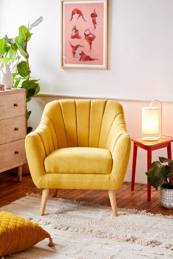 Stylish Yellow Armchair From Urban Outfitters Perfect For A Lounge Area Junebug Weddings Home Decor Bedroom Home Decor Yellow Accent Chairs
