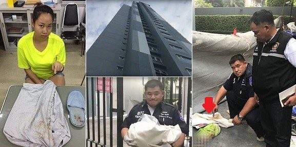 Mother throws her newborn baby to his death from 17th floor of a building to punish her boyfriend (photos)