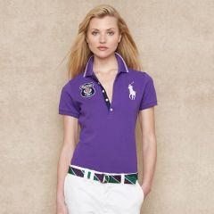 Wimbledon Long-Placket Polo - Blue Label Big Pony - Ralph Lauren UK