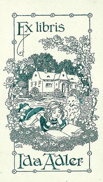 [Ex libris Ida Adler], via Flickr.