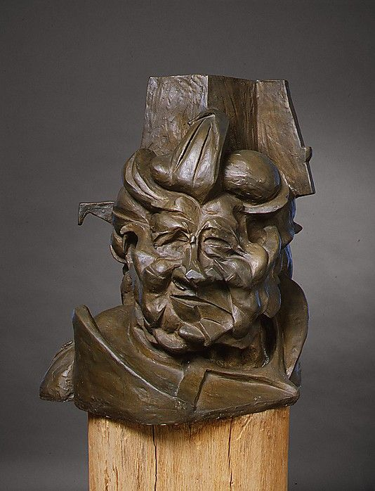 Antigraceful / Umberto Boccioni / 1913, cast 1950-51 / bronze / at the Met