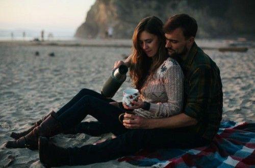 Inspiração de sessão de fotos para casal íntima e natural