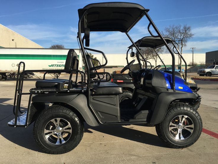 BLUE Fully Loaded Cazador OUTFITTER 200 Golf Cart 4