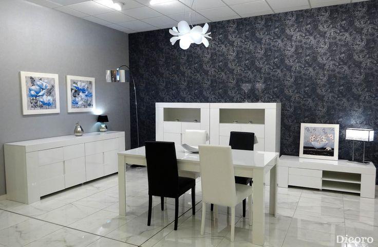 17 mejores ideas sobre mueble pintado de negro en - Papel pared salon ...