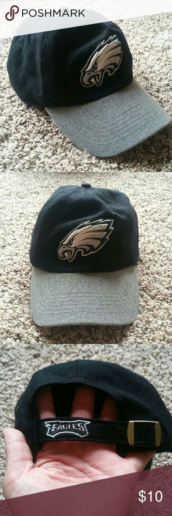 """Philadelphia Eagles Hat with Adjustable Strap Philadelphia Eagles Hat with adjustable strap Hat states """"One Size""""  65% wool, 35% viscose Bundle with another item in my closet and save 10% on your order and save on shipping :) Forty Seven Brand   Accessories Hats"""