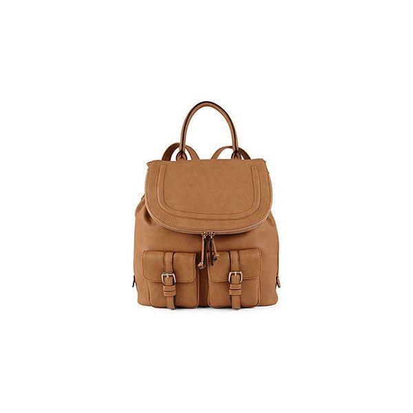 ALDO Botton (65 CAD) ❤ liked on Polyvore featuring bags, backpacks, camel, aldo, camel bag, fake bags, aldo bags and decorating bags
